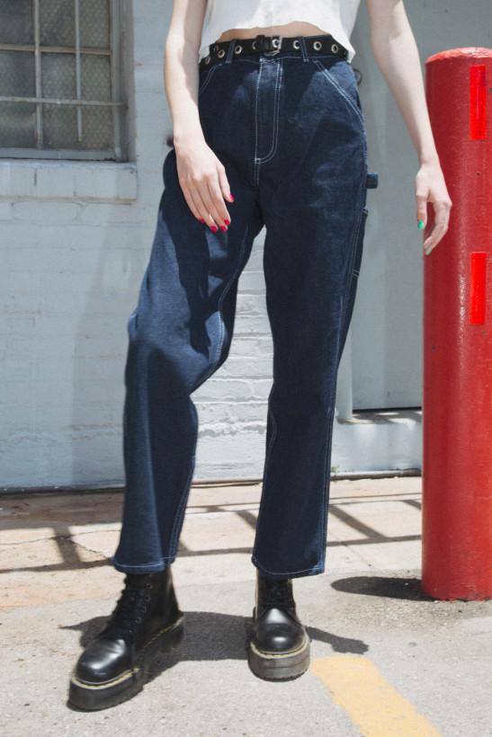 Talia Dark Wash Cargo Jeans