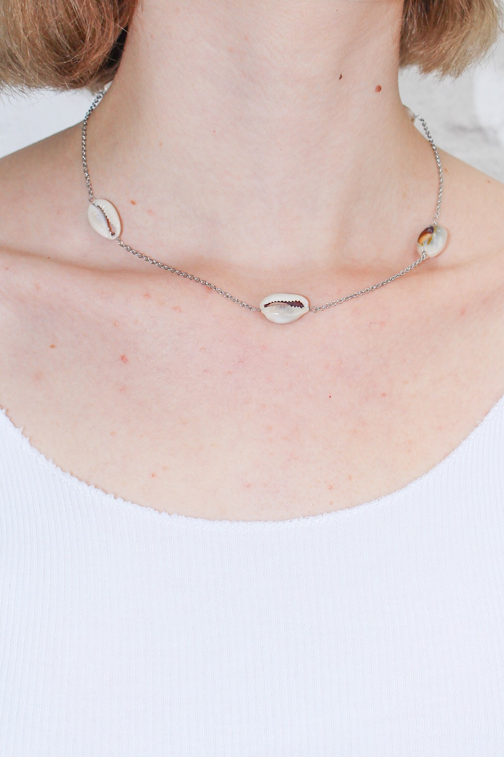 Silver Puka Shell Necklace