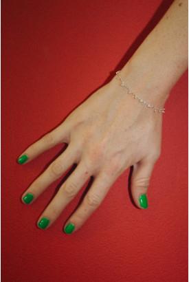 Silver Cherry Charm Bracelet