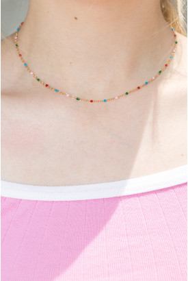 Multicolored Bead Necklace