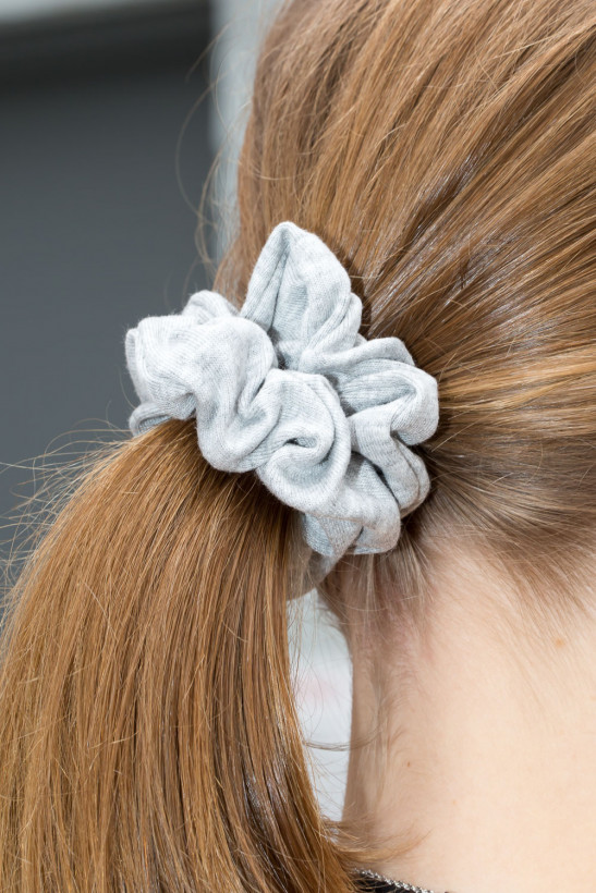 Light Heather Grey Scrunchie