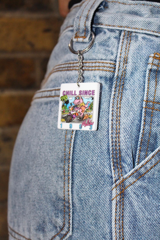 Chill Since 1993 Malibu Keychain