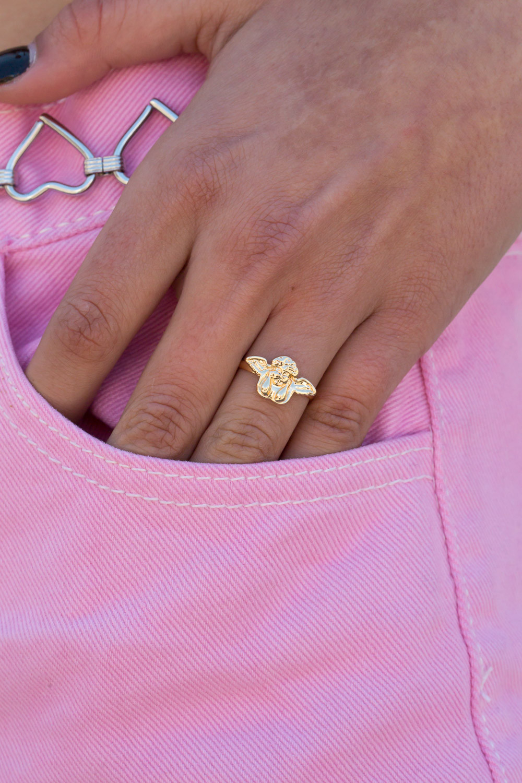 Gold Angel Ring