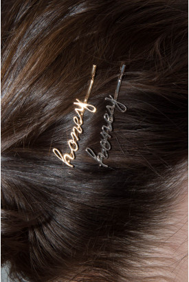 Silver and Gold Honey Hair Pins